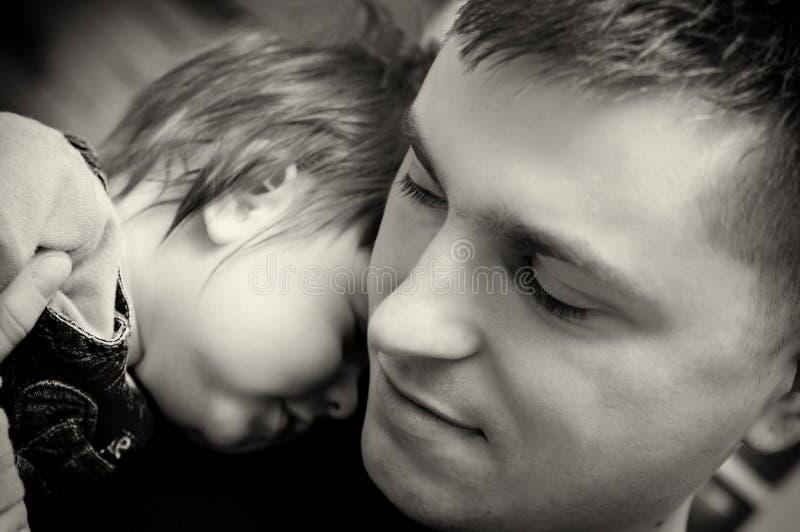 De zoon van de vader en van de baby royalty-vrije stock foto's