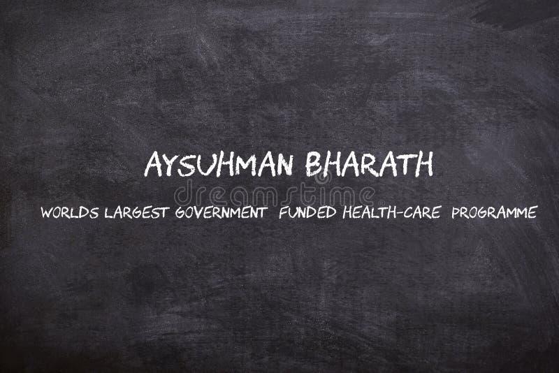 De zorg van Ayushmanbharath Modi is de verzekering voor inwoners van India door Regering van India royalty-vrije illustratie