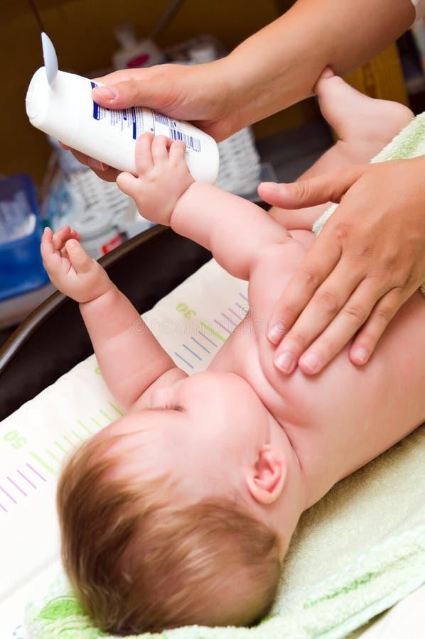 De zorg van de baby   royalty-vrije stock afbeelding