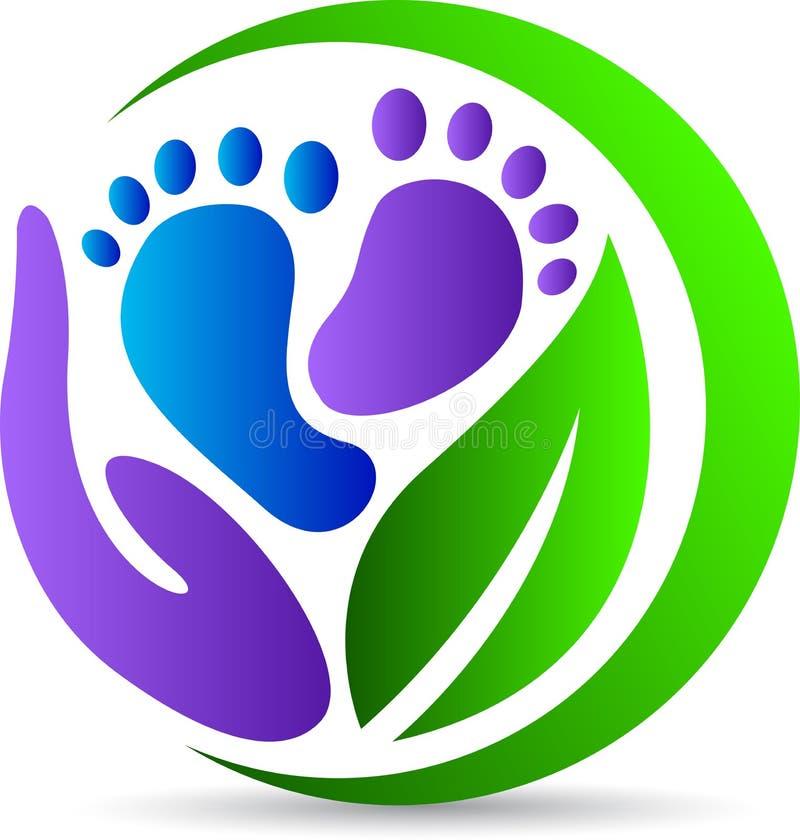 De zorg van de voetdruk vector illustratie