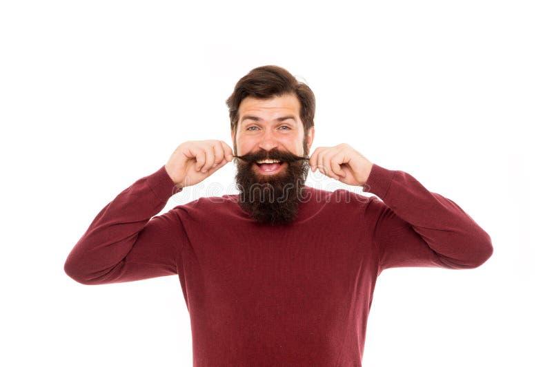 De zorg van het haar Herenkapperconcept De baardharen groeien aan verschillende tarieven Om ontzagwekkende baard, simpel gezegd w royalty-vrije stock afbeeldingen