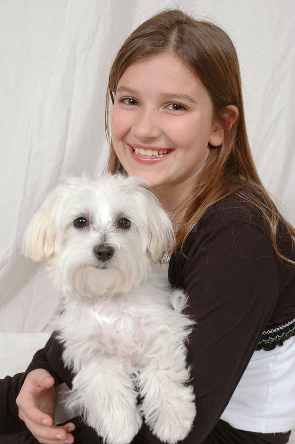 De Zorg van het puppy royalty-vrije stock foto