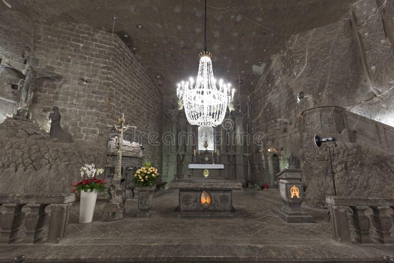 De zoute mijn van Wieliczka stock foto