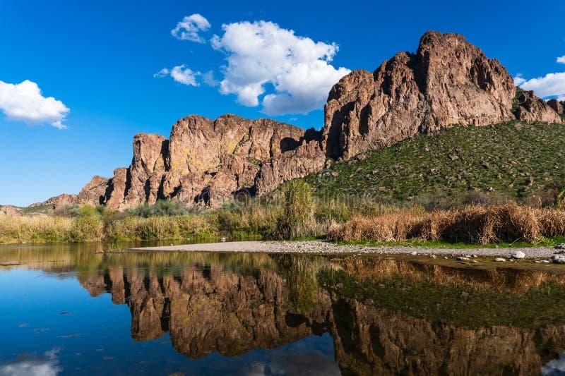 De Zoute Rivier dichtbij Mesa, Arizona stock afbeelding