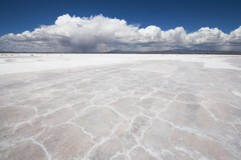 De Zoute Vlakten Bolivië van Uyuni stock foto