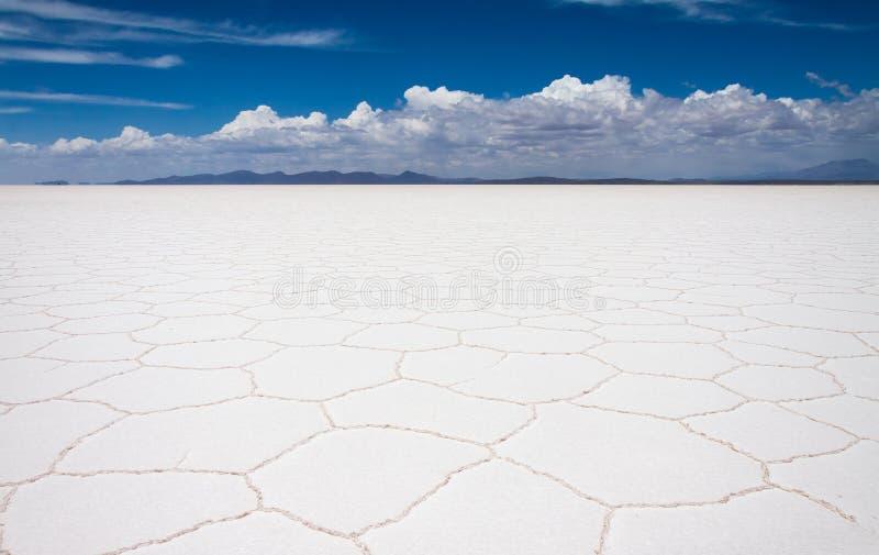De zoute vlakten van Uyuni royalty-vrije stock afbeeldingen
