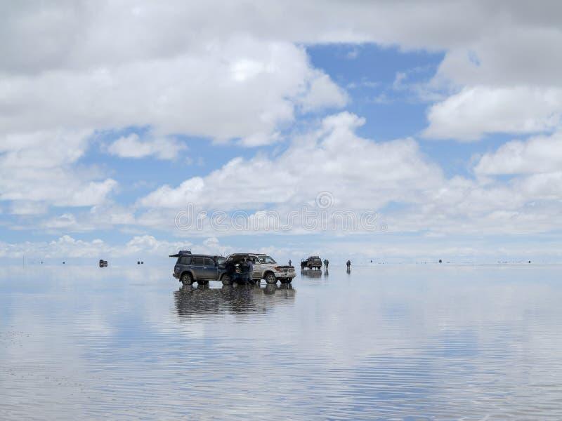 De zoute woestijn van Salar de Uyuni Bolivia stock afbeeldingen