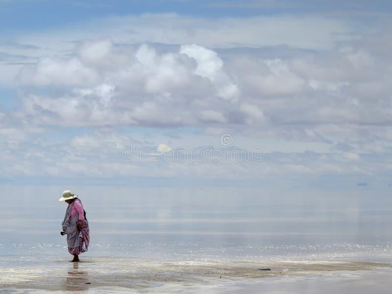 De zoute woestijn van Salar de Uyuni Bolivia stock fotografie