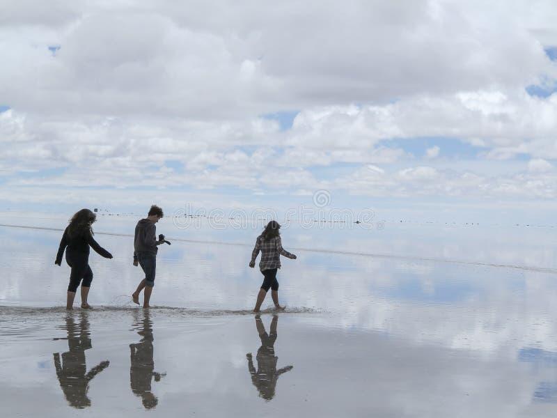De zoute woestijn van Salar de Uyuni Bolivia stock afbeelding