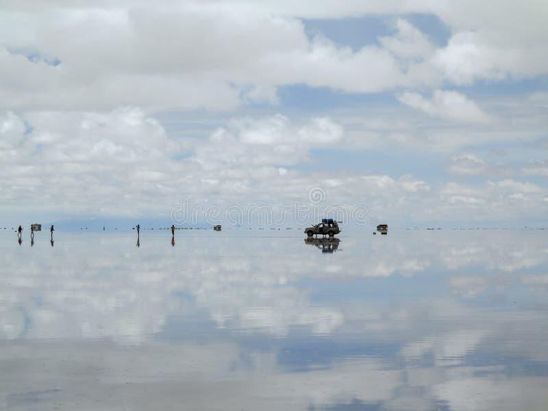 De zoute woestijn van Salar de Uyuni Bolivia stock foto's