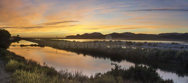De Zoutmeren van Las van het Ibiza Natuurreservaat royalty-vrije stock foto