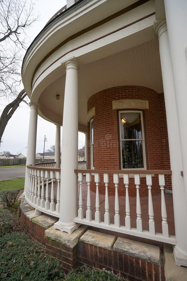 De zuidelijke portiek van het stijlhuis stock fotografie