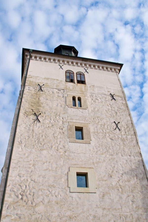De zuidelijke Toren van Poortlotrscak in oud Zagreb, Kroatië stock fotografie