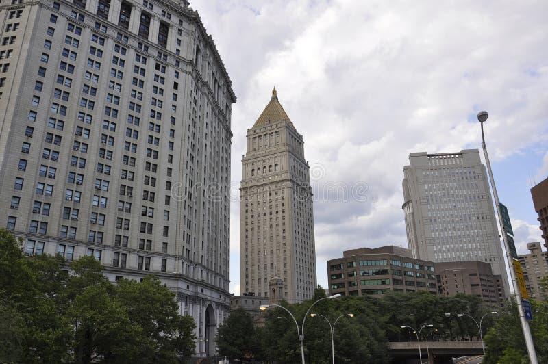 De zuidennypd Bouw en het Hof van de V.S. Huis in Lower Manhattan van de Stad van New York in Verenigde Staten royalty-vrije stock afbeelding