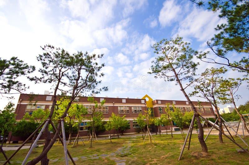 De Zuidkoreaanse schoolbouw   royalty-vrije stock foto