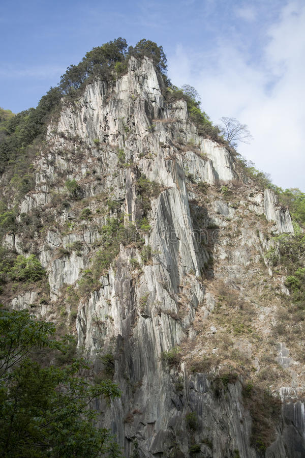 De zuivere Klip van de Dalingsberg stock afbeeldingen