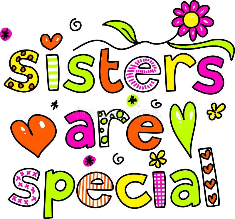 De zusters zijn speciaal stock illustratie