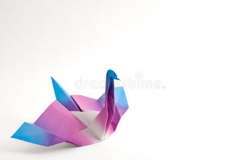 De Zwaan van de origami royalty-vrije stock fotografie