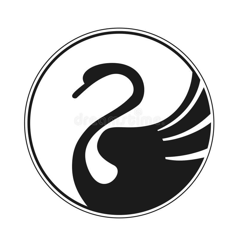 De zwaan van het ontwerp stock illustratie