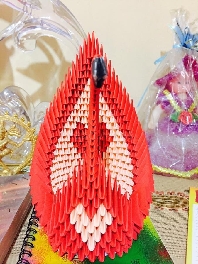 De Zwaan van de origami stock foto