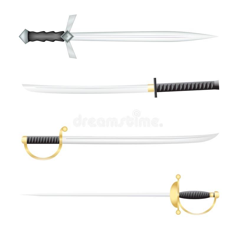 De zwaarden vector illustratie
