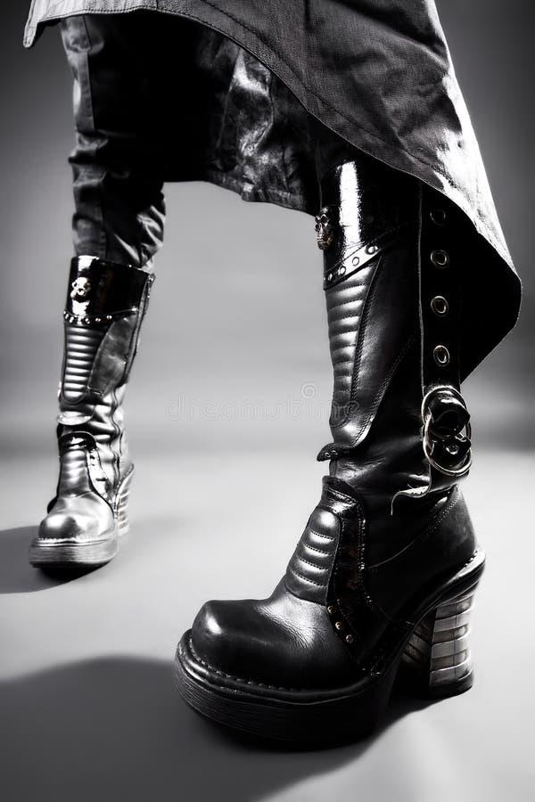 De zware laarzen van Goth royalty-vrije stock foto