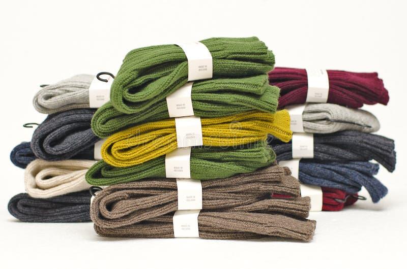 De zware sokken van de de winterwol royalty-vrije stock foto's