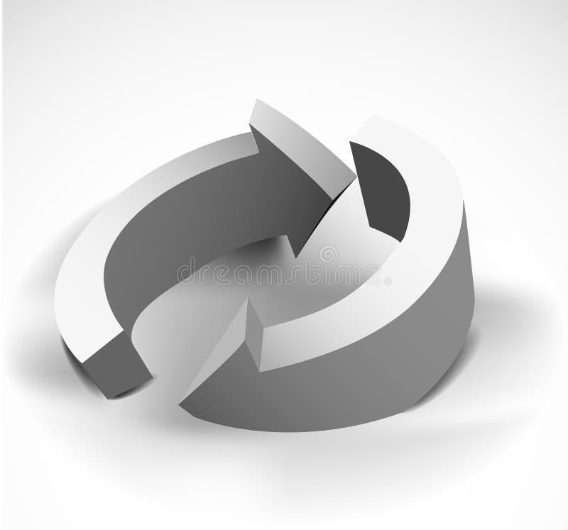 De zwart-witte abstracte achtergrond van pijlen royalty-vrije illustratie