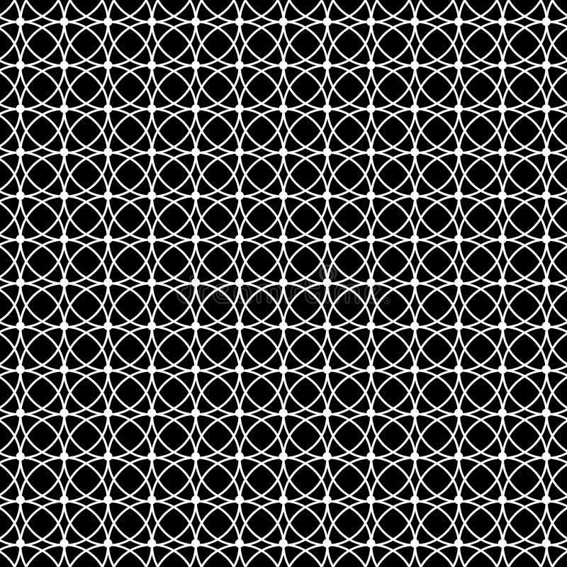 De zwart-witte achtergrond van het cirkelpatroon royalty-vrije illustratie