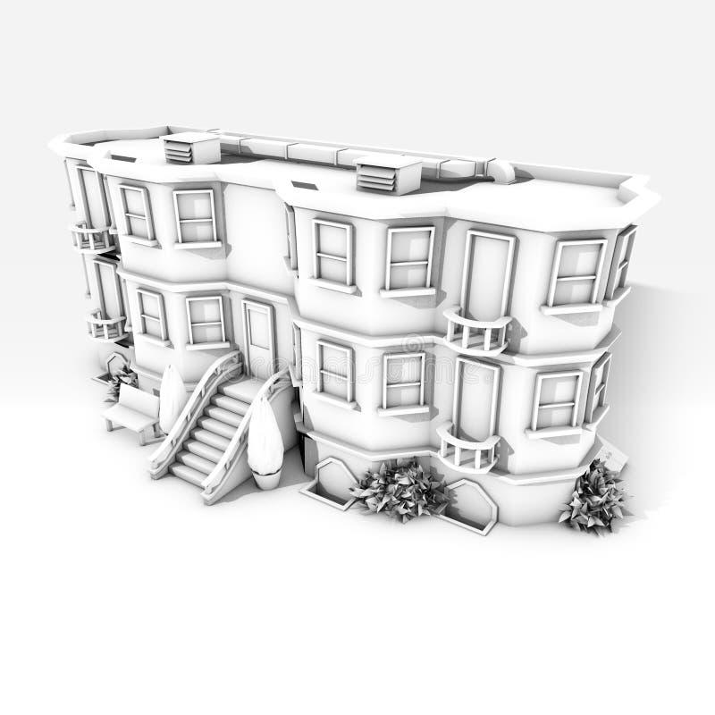 De zwart-witte bouw 0 stock afbeeldingen