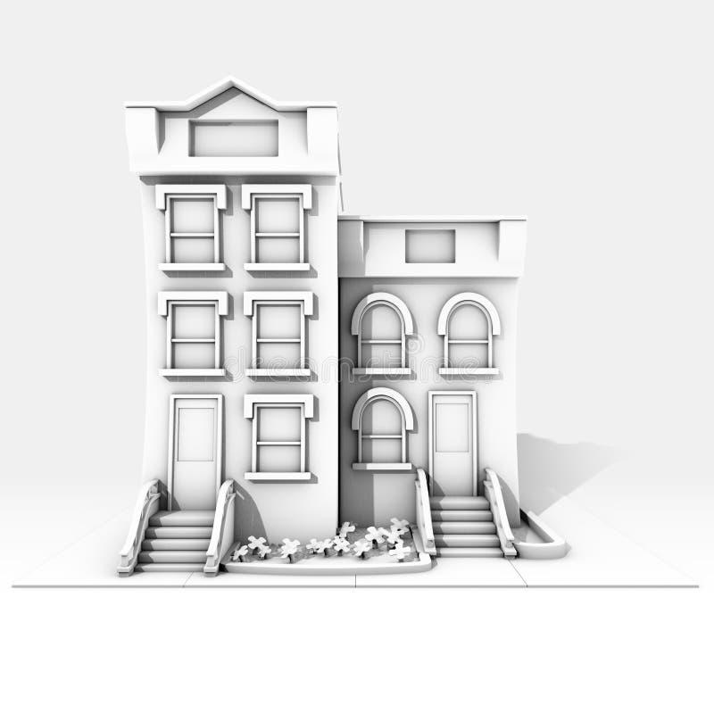 De zwart-witte bouw 0 stock foto's