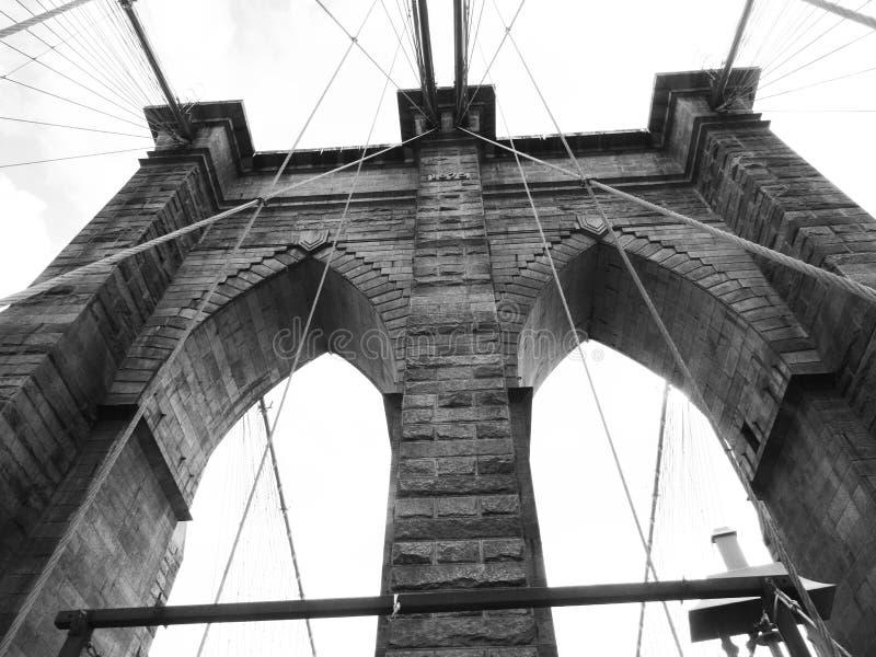 De Zwart-witte Brug van Brooklyn, royalty-vrije stock afbeeldingen