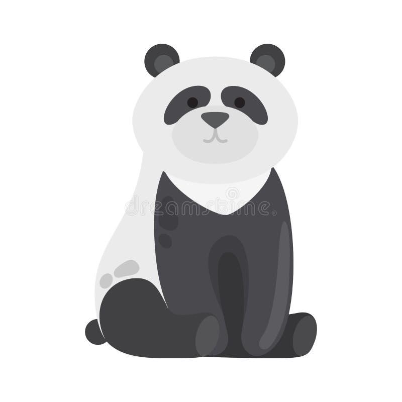 De zwart-witte dierlijke panda draagt Wild Dier vector illustratie