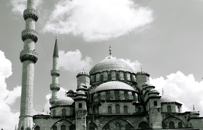 De Zwart-witte foto van Peking, China Nieuwe moskee Moskee Istanboel royalty-vrije stock foto