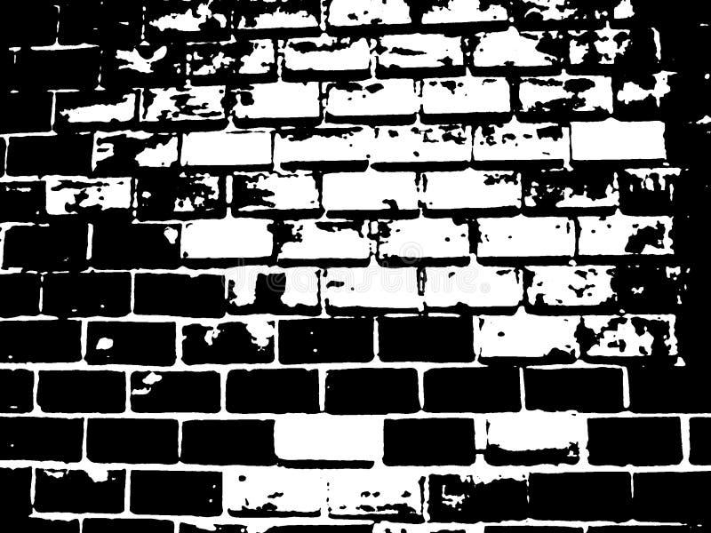 De Zwart-witte Illustratie van de baksteen stock afbeeldingen