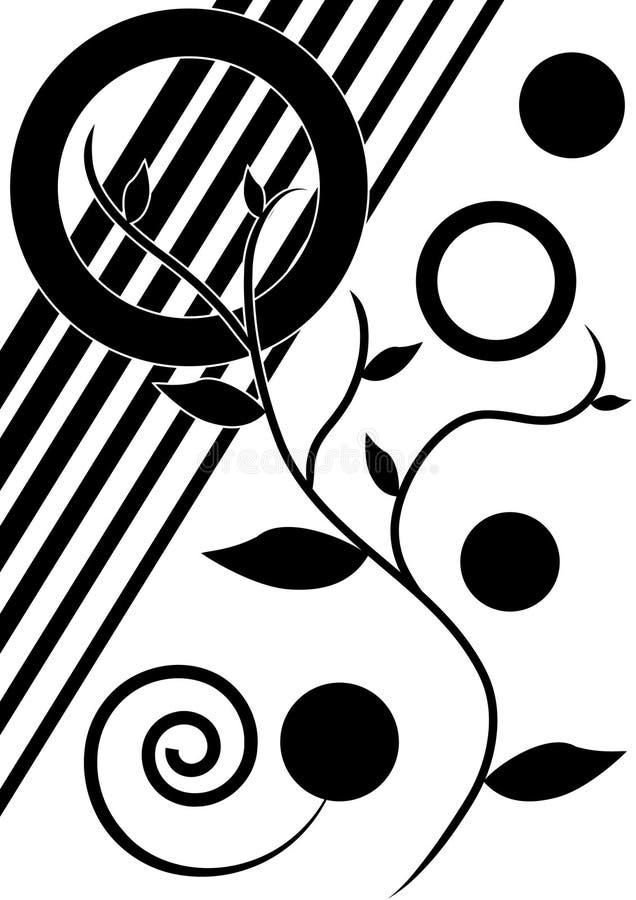 De zwart-witte lente stock afbeeldingen