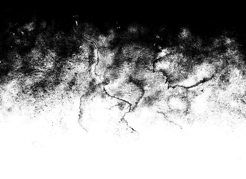 De zwart-witte marmeren textuur van de grungegradiënt stock fotografie