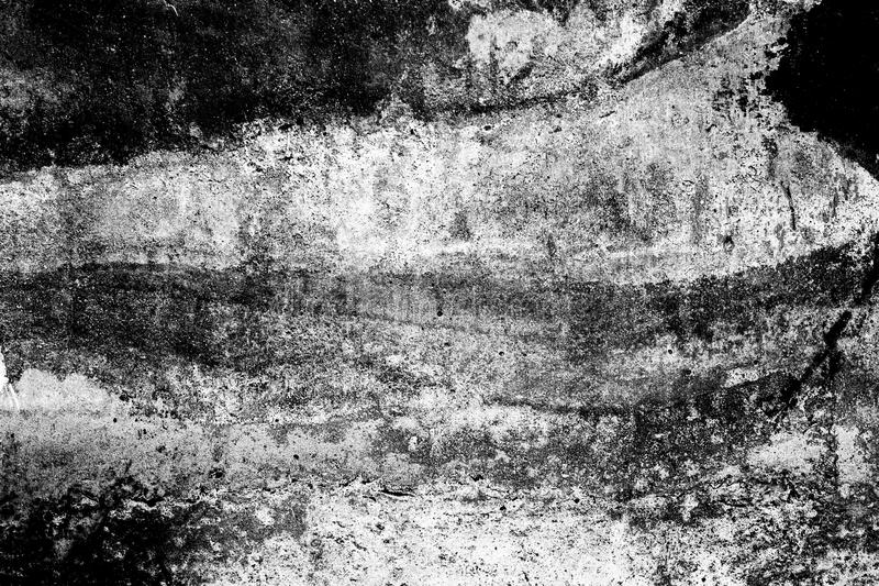De zwart-witte Samenvatting beschadigde de oude achtergrond van het grungecement, textuur stock foto