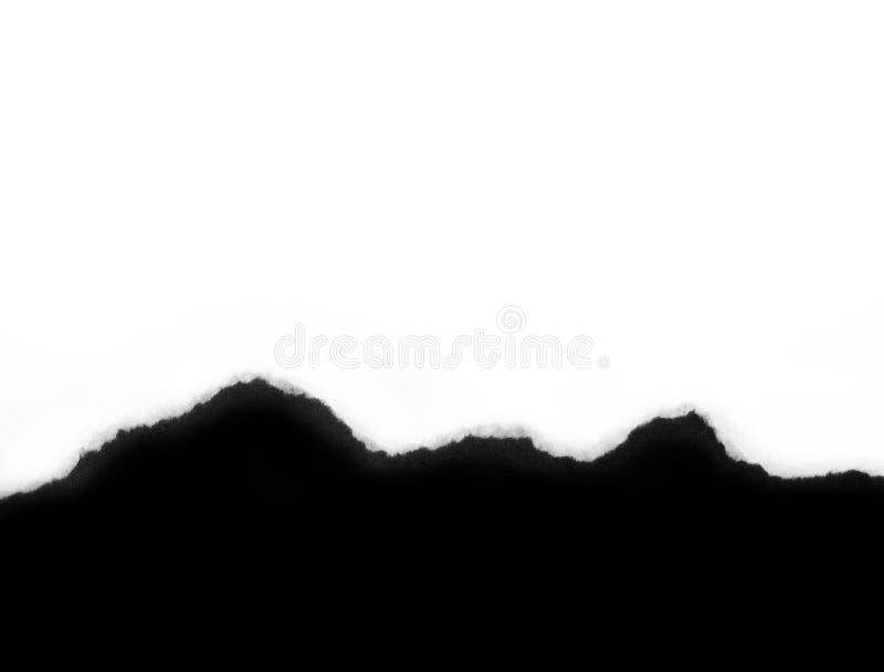 De zwart-witte Scheur van het Document royalty-vrije stock foto's