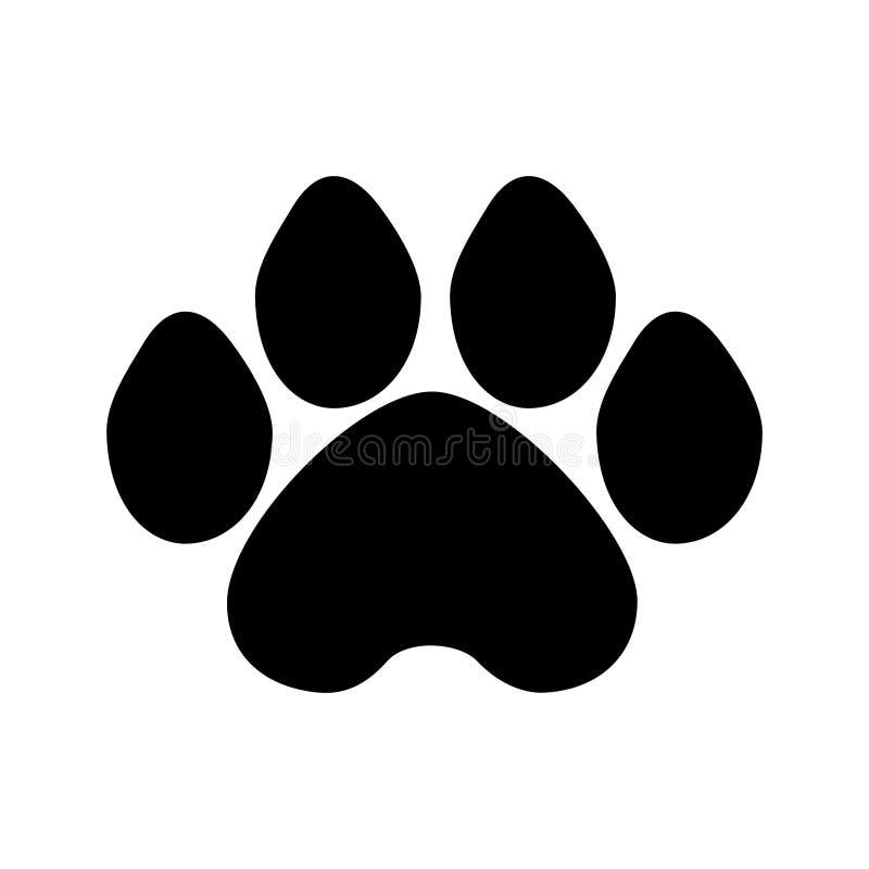 De zwart-witte vector van de hondpoot stock illustratie