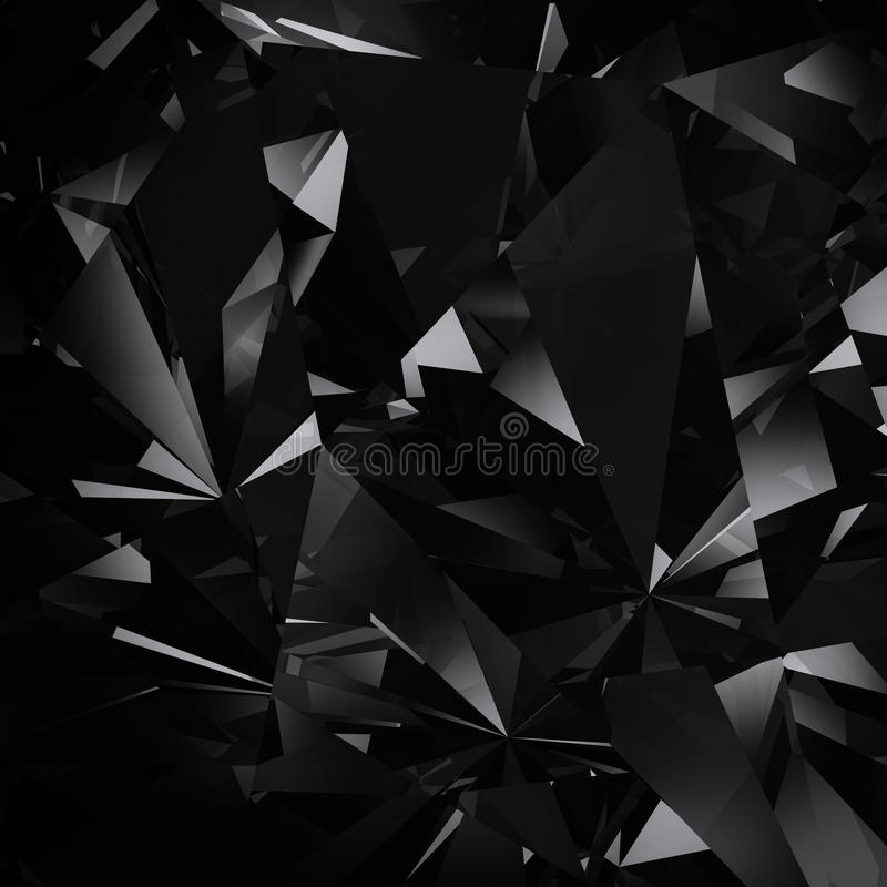 De zwarte achtergrond van de diamant stock illustratie