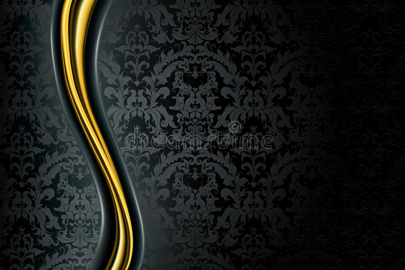 De zwarte Achtergrond van de Luxe royalty-vrije illustratie