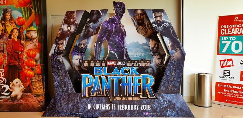De zwarte affiche van de Panterfilm stock afbeeldingen
