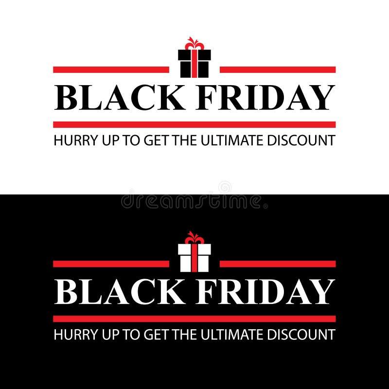 De zwarte Banner van de Verkoop van de Vrijdag vector illustratie