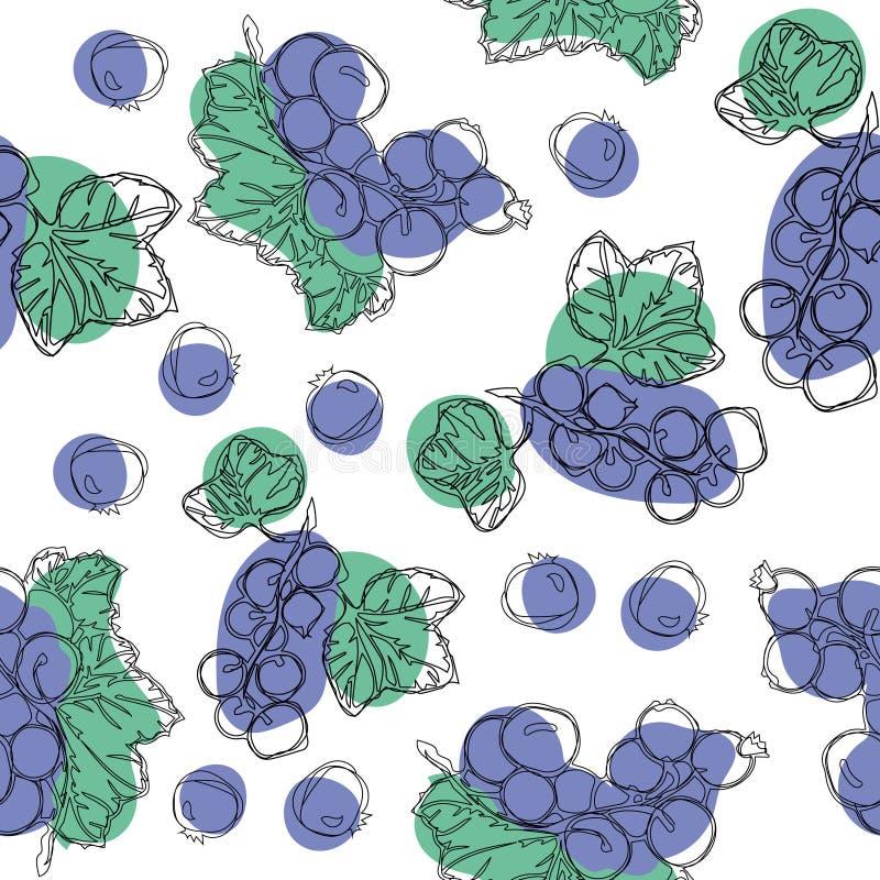 De zwarte beshand trekt naadloos patroon Goed voor textiel, verpakkend document Achtergrondontwerp voor thee, roomijs, natuurlijk vector illustratie