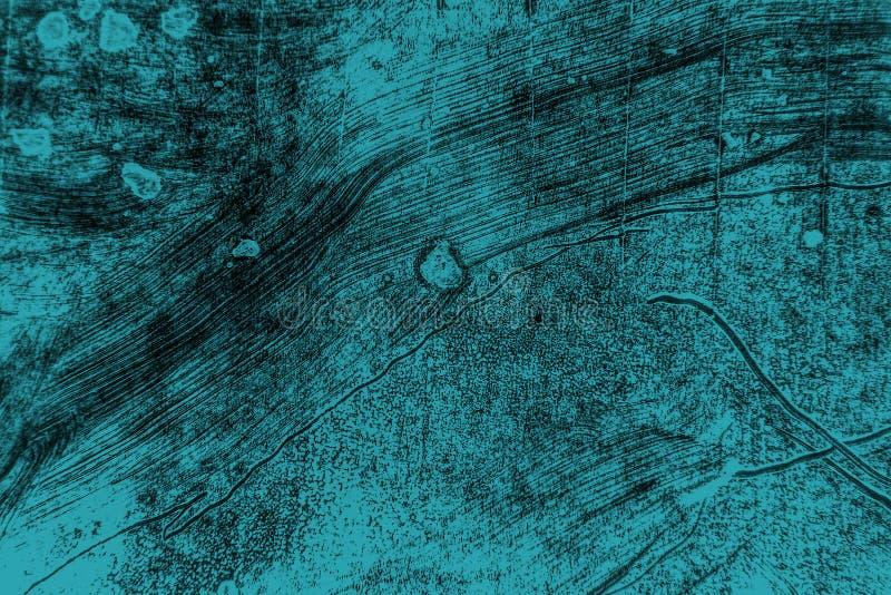 De zwarte blauwgroene achtergrond van verfkwaststreken royalty-vrije stock fotografie