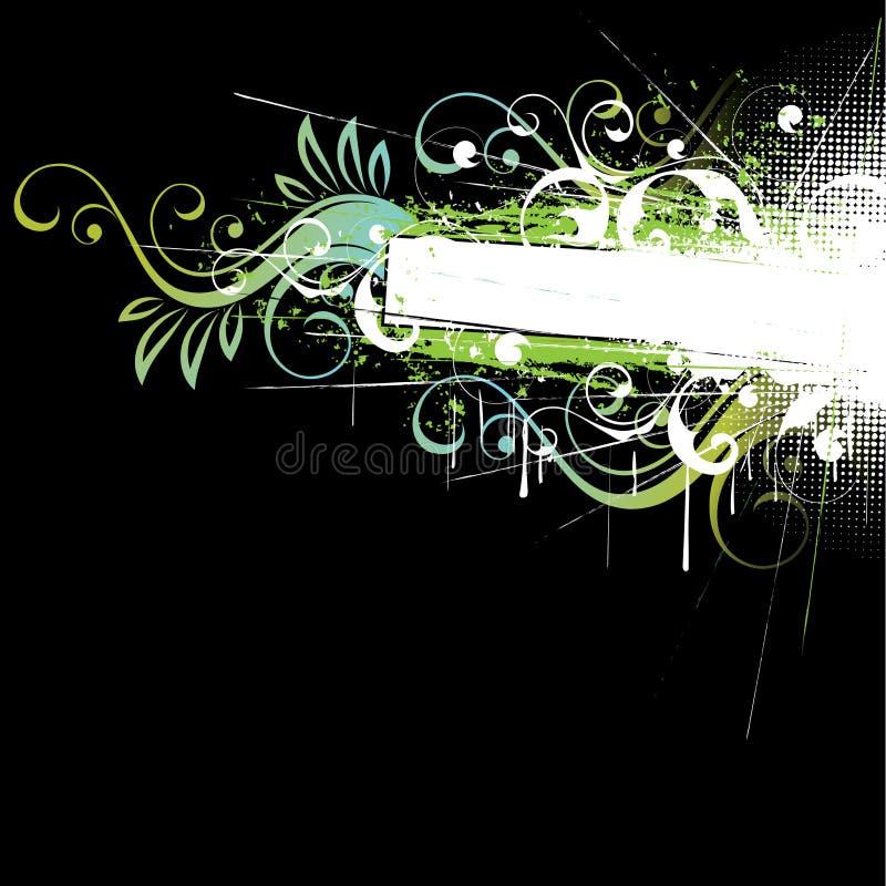 De zwarte bloeit achtergrond vector illustratie