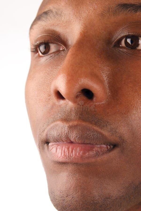 De zwarte Close-up van de Mens royalty-vrije stock fotografie
