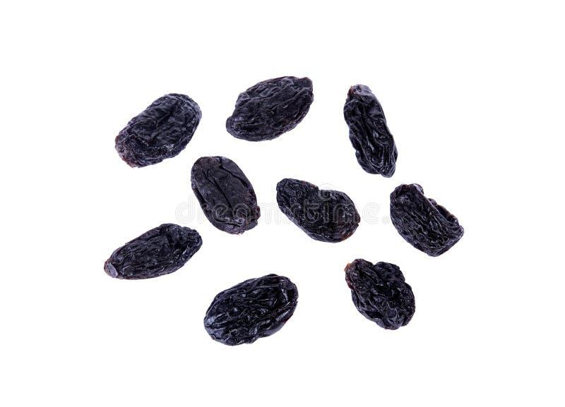 De zwarte die rozijn is krenten en rozijnen op witte achtergrond worden geïsoleerd royalty-vrije stock foto