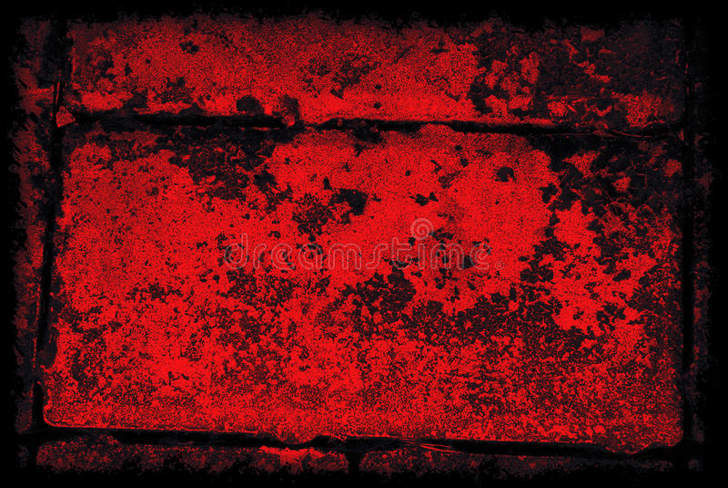 De zwarte en Rode Abstracte Achtergrond van Grunge met Grens royalty-vrije stock foto